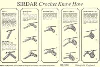 Learn to knit starters card by Sirdar - Click to enlarge